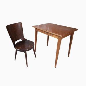 Juego de escritorio y silla Mid-Century de formica de Baumann