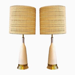 Crackle Glazed Table Lamps Attributed to Paul László and Maria Kipp for Wilshire House, 1960s, Set of 2