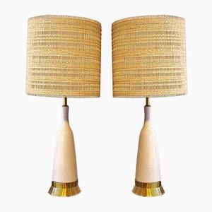 Lámparas de mesa de vidrio esmaltado de Paul László and Maria Kipp para Wilshire House, años 60. Juego de 2