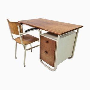 Mid-Century Bauhaus Desk and Chair Set, 1930s