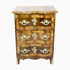 Antique Baroque German Walnut Pillar Chest of Drawers