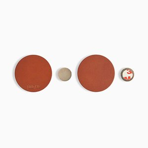 Brown Magnetiqka Wall Organizer by Jacob De Baan for Uniqka, Set of 2