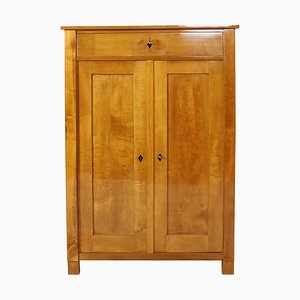 Antique Biedermeier Solid Birch Cabinet