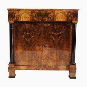 Cassettiera Biedermeier antica in legno di noce ebanizzato