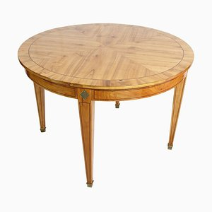 Vintage Biedermeier Style Round Extendable Dining Table, 1930s