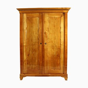 Antique Biedermeier Solid Cherrywood Cabinet