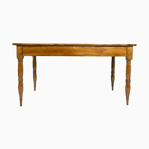 Antique Biedermeier Solid Cherrywood Dining Table