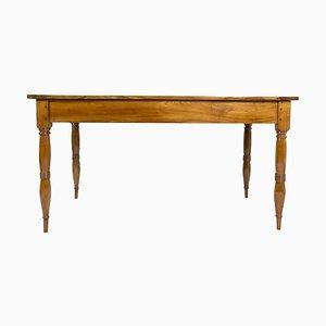 Mesa de comedor Biedermeier antigua de madera de cerezo macizo