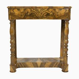 Antique Biedermeier Walnut Console Table