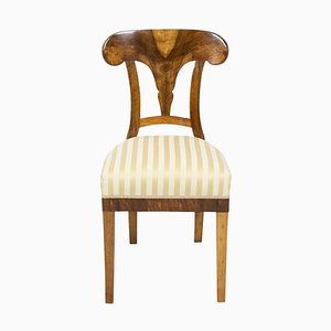 Antique Biedermeier Walnut Dining Chair