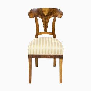 Antique Biedermeier Walnut Dining Chair