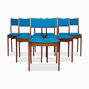 Chaises de Salon Mid-Century en Palissandre par Johannes Andersen pour Uldum Møbelfabrik, Danemark, Set de 6