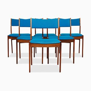 Mid-Century Danish Rosewood Dining Chairs by Johannes Andersen for Uldum Møbelfabrik, Set of 6