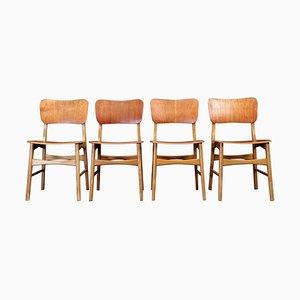 Dänische Mid-Century Esszimmerstühle von Boltinge, 4er Set