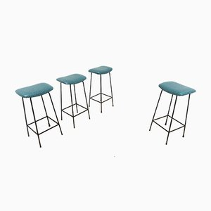 MId-Century Barstools by Frank Guille for Kandya, 1960s, Set of 4