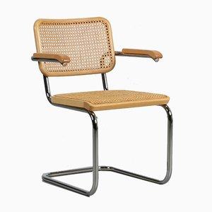 Bauhaus Beech S64 Cantilever Chair by Marcel Breuer Thonet, 1980s