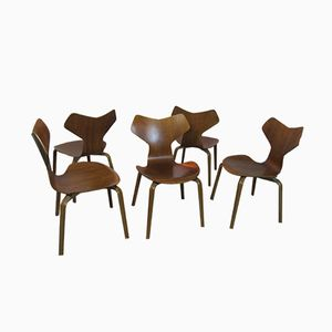 Grand Prix Chairs by Arne Jacobsen for Fritz Hansen, Set of 5