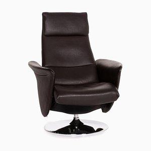 Poltrona relax in pelle marrone scura di De Sede