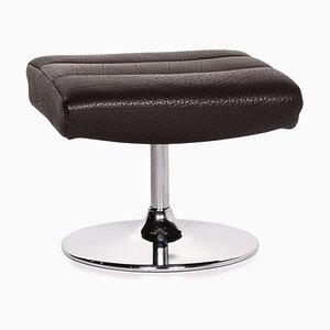 Dark Brown Leather Pouf from de Sede