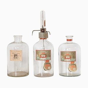 Large Boldoot Perfume Filling Bottles, 1954, Set of 3