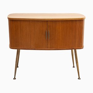 Small Oval Sideboard Desk from WK Möbel, Germany, 1950s