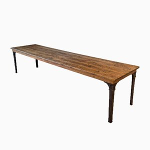 Antique Empire Railway Pine Table