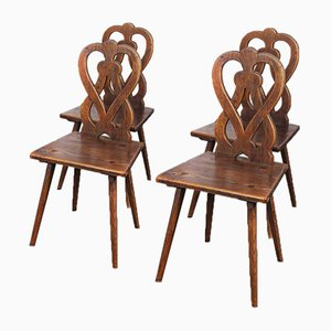 Alsace Region Figure of 8 Dining Chairs, 1950s, Set of 4