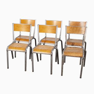 French Silver Dining Chairs from Mullca, 1950s, Set of 6