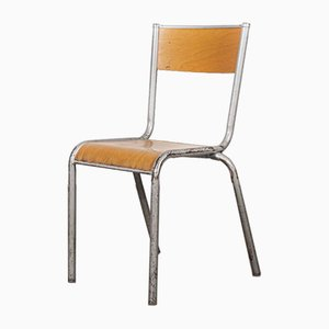 French Silver Dining Chair from Mullca, 1950s