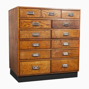 Small Oak Multi Chest of Drawers, 1950s