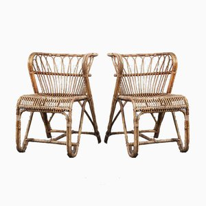 Rattan Chairs by Viggo Boesen, 1950s, Set of 2
