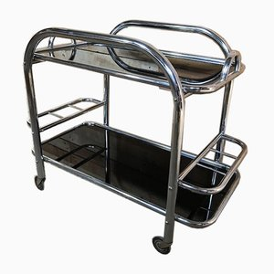 French Art Deco Drinks Trolley by Jacques Adnet, 1930s