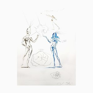 Salvador Dali - The Lovers Condemned - Original Etching 1970