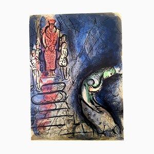 Marc Chagall - Die Bibel - Ahasverus Sends Vasthi Away - Original Lithographie 1960