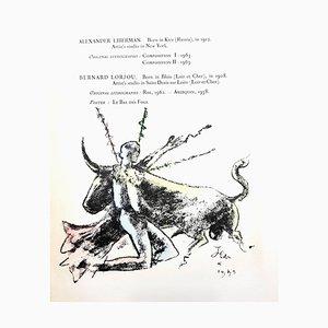 Litografia originale 1964 di Jean Cocteau - Morlot