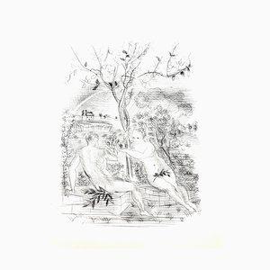 Raoul Dufy - Adam und Eva in der Moderne - Originale Radierung 1940