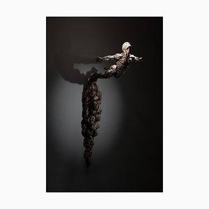 Ian Edwards - Geboren in Feuer - Wandhängendes Signiertes Sculpure Bronze 2017
