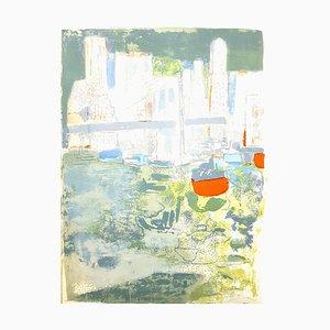 Lithographie originale de Paul Guimard - New York's Port 1964