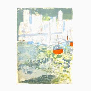 Paul Guimard - New York's Port - Original Lithograph 1964