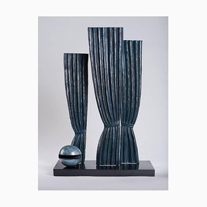 (después) René Magritte - La Joconde - Escultura surrealista de bronce