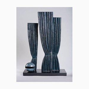 (nachher) René Magritte - La Joconde - Surrealistische Bronzeskulptur
