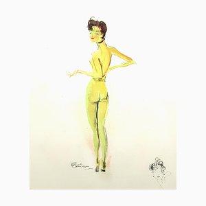 Domergue - Naked - Original Signed Lithograph 1956