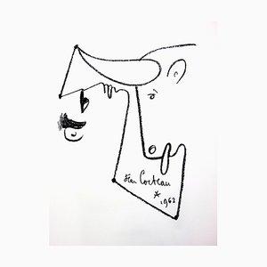 Lithographie de Jean Cocteau Animalism - 1965