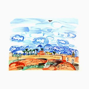 Raoul Dufy (after) - Landscape - Lithograph 1965