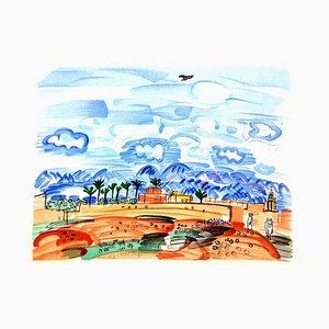 Raoul Dufy (after) - Landscape - Litografía 1965