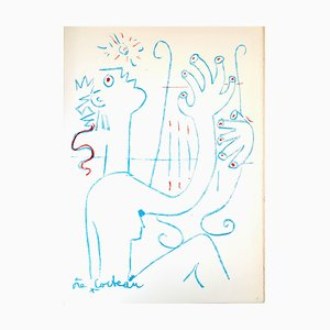 Jean Cocteau - The Musician - Original Lithograph 1961