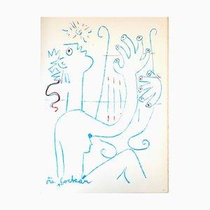 Lithographie Jean Cocteau - The Musician - Original 1961