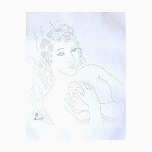 Léonard Foujita - My Friend's Portrait - Original Engraving 1928