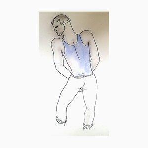 Jean Cocteau - Libro blanco - Litografía original pintada a mano 1930