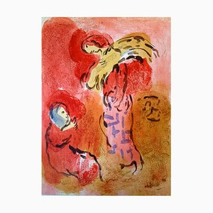 Lithographie de Marc Chagall - The Bible - Ruth Gleaning - Original Lithograph 1960